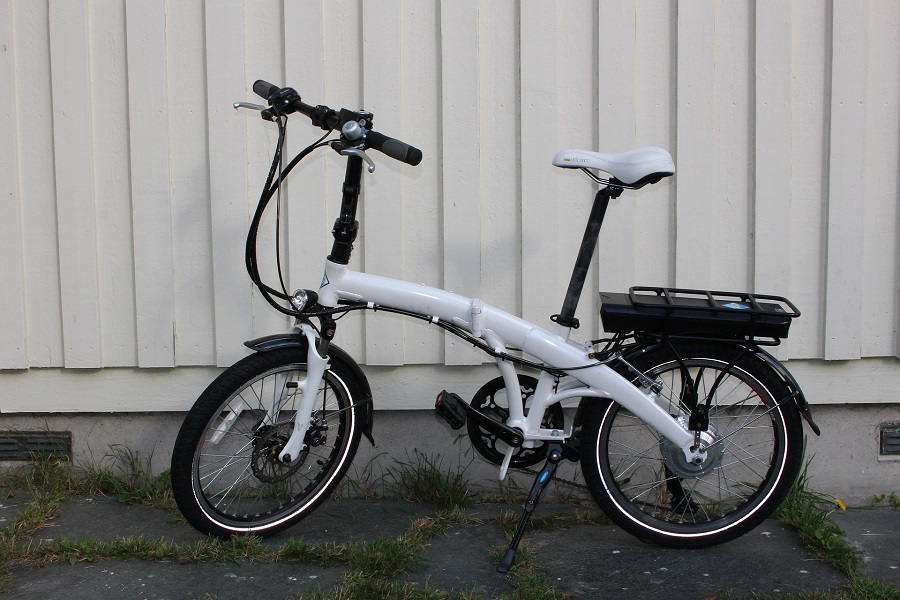 Bici elettrica pieghevole usata