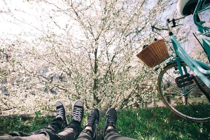 bicicletta in primavera