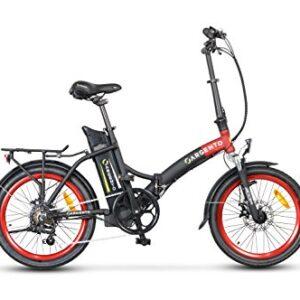 Argento Piuma Bici elettrica pieghevole